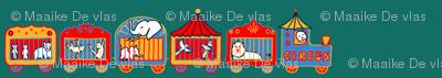 Circus train retro
