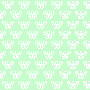 Damask Swirl- Light Green