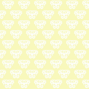 Damask Swirl- Light Yellow