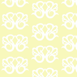 Diamond Swirl Damask 2- Light Yellow