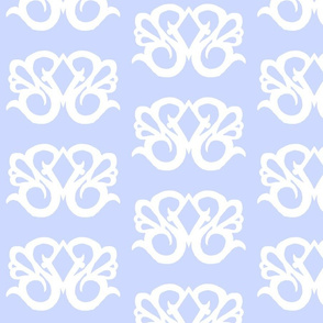 Diamond Swirl Damask 2- Light Blue