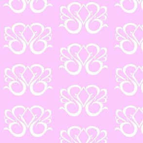 Diamond Swirl Damask 1- Lavender