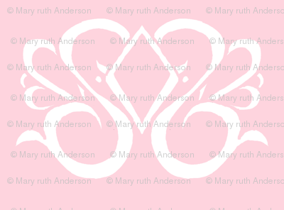 Diamond Swirl Damask 1- Light Pink
