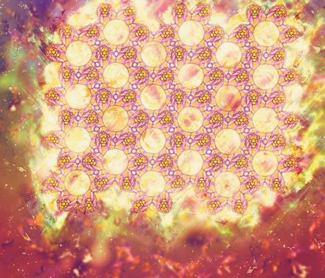 lion_spiral fabric by perlinstudio on Spoonflower - custom fabric