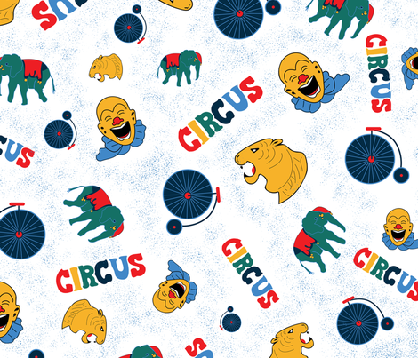 Circus Party! fabric by annelafollette on Spoonflower - custom fabric
