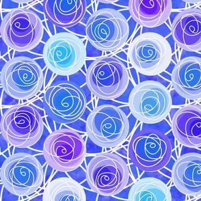renne's roses in ultramarine