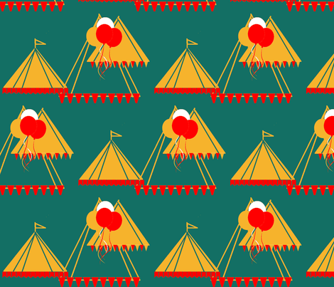 Circus Tents fabric by menny on Spoonflower - custom fabric