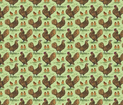 sebright_family_12 fabric by leroyj on Spoonflower - custom fabric