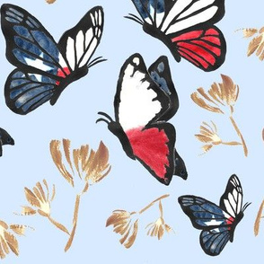Watercolor_Butterfly_Painting_5_Texas_Blue_Gold