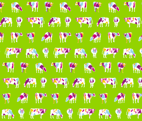 Paintbox Cows small fabric by pennyroyal on Spoonflower - custom fabric