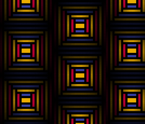 City of Cathedrals (Black) fabric by david_kent_collections on Spoonflower - custom fabric