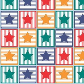 Circus Stars and Stripes Blocks