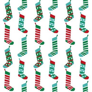 christmas stockings fabric xmas holiday red and green fabric - white