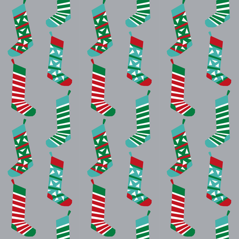 christmas stockings fabric xmas holiday red and green fabric grey fabric by petfriendly on spoonflower - Red And Green Christmas Stockings