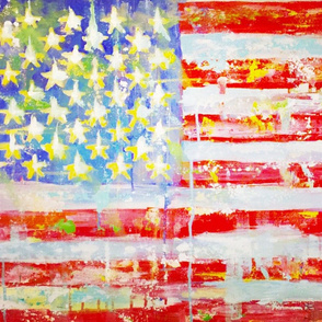 American Flag in square