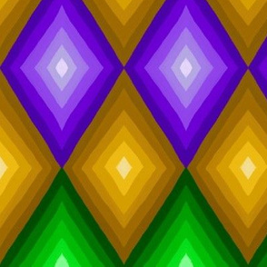 Mardi Gras 3D Diamonds