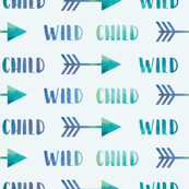 Wild Child Arrows in Muted Mint Watercolor