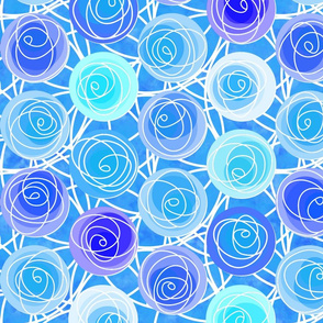 renne's roses in blue