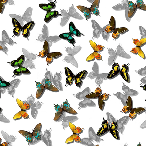 more butterflies fabric by stofftoy on Spoonflower - custom fabric