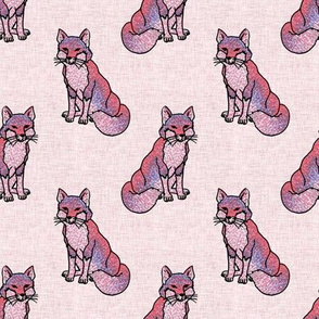 Pointilism Fox Pattern