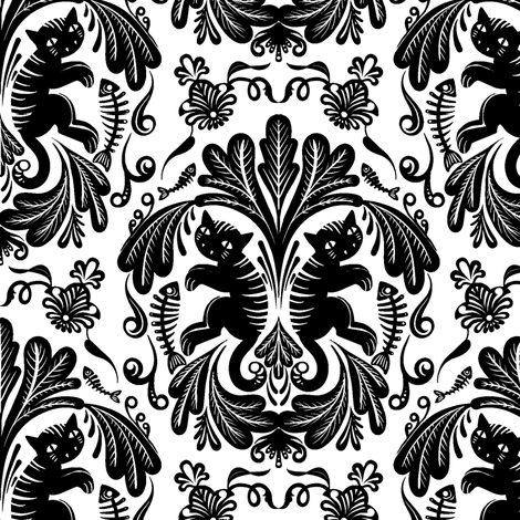 Swedish Cats 5 fabric by jadegordon on Spoonflower - custom fabric