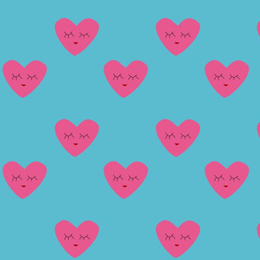 Candy Heart blue background