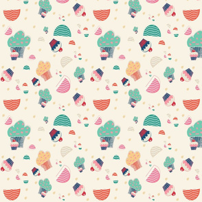 cupcake beije background