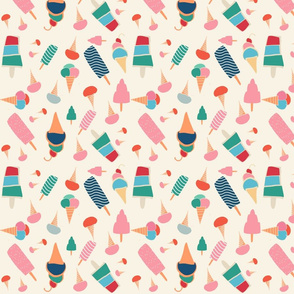ice cream beije background
