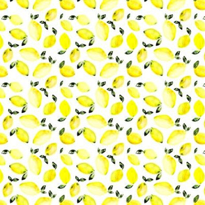 Watercolor lemons mini