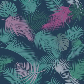 palme sfondo blu