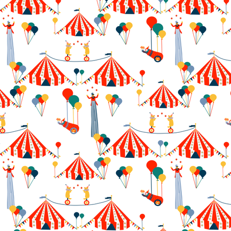Welcome to the Circus fabric by eclectic_house on Spoonflower - custom fabric