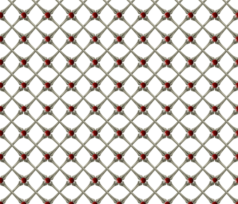 Ruby Encrusted Cross Bones fabric by whimzwhirled on Spoonflower - custom fabric