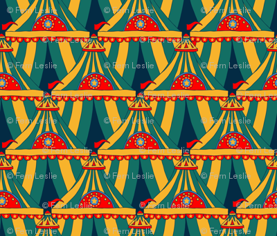 Circus Tents Large - Yellow, Green