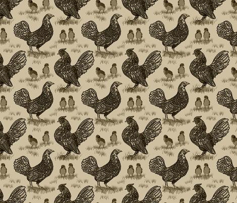 sebright_family_sepia_6x6 fabric by leroyj on Spoonflower - custom fabric