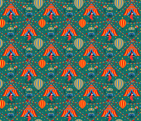 Circus fabric by svetlana_prikhnenko on Spoonflower - custom fabric