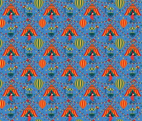Retro Circus fabric by svetlana_prikhnenko on Spoonflower - custom fabric