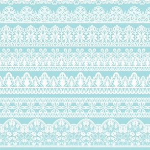 Lace Ribbons on blue