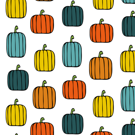 multi pumpkins fabric by littlearrowdesign on Spoonflower - custom fabric