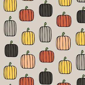 fall pumpkins - warm on beige