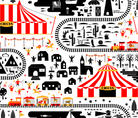the travelling circus fabric by analinea on Spoonflower - custom fabric
