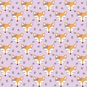 tiny foxes-with-lavender-rosebuds