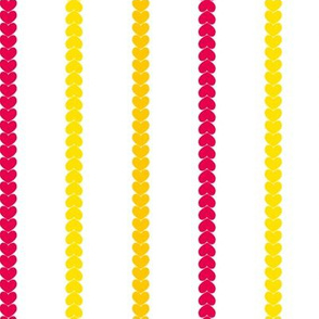 Heart Stripes Red/Yellow