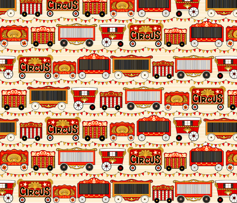 Circus Cars fabric by sufficiency on Spoonflower - custom fabric