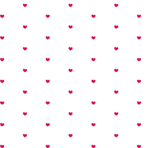 Heart Dots Red