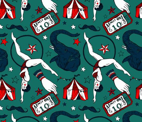 Retro Circus fabric by sharpstudio on Spoonflower - custom fabric