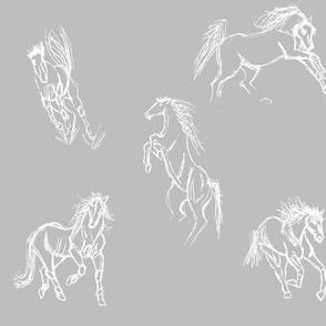 Equine Gestures Grey