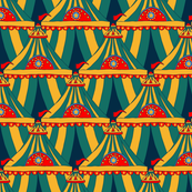 Circus Tents  - Yellow Green