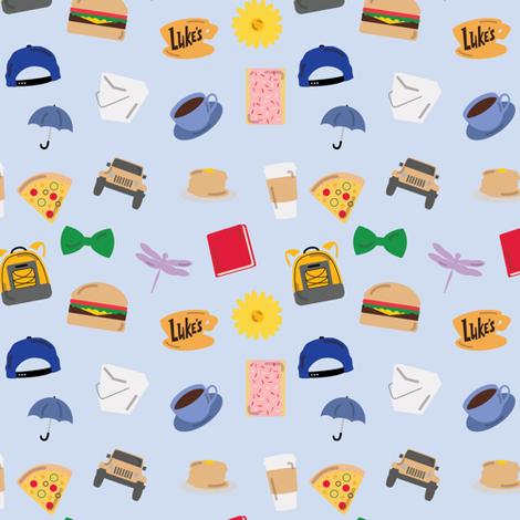 Gilmore Girls World fabric by doodlebymeg on Spoonflower - custom fabric