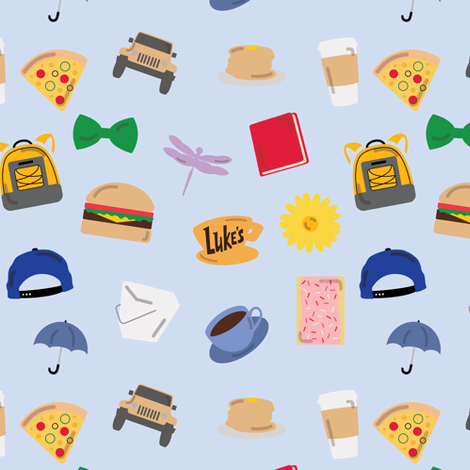 Gilmore Girls World fabric by doodlebymeg on Spoonflower - custom fabric