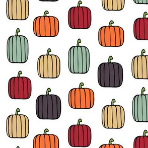 multi pumpkins - fall colors
